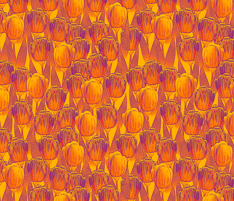 hot tulips  fabric by glimmericks on Spoonflower - custom fabric