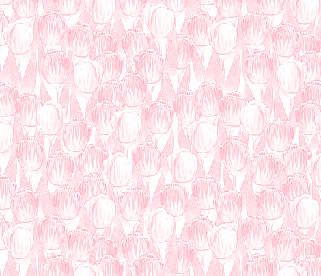 pink kiss tulips fabric by glimmericks on Spoonflower - custom fabric