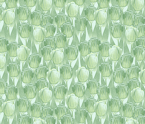 green grow the tulips fabric by glimmericks on Spoonflower - custom fabric