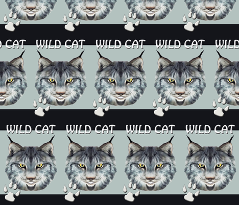 WILDCAT_ONE fabric by dogdaze_ on Spoonflower - custom fabric