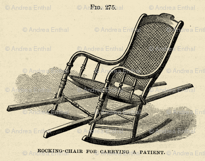 Civil War Era Medical illustration of chair