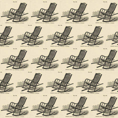 Civil War Era Medical illustration of chair fabric by edsel2084 on Spoonflower - custom fabric