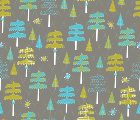 An Evergreen is Crafty fabric by cynthiafrenette on Spoonflower - custom fabric
