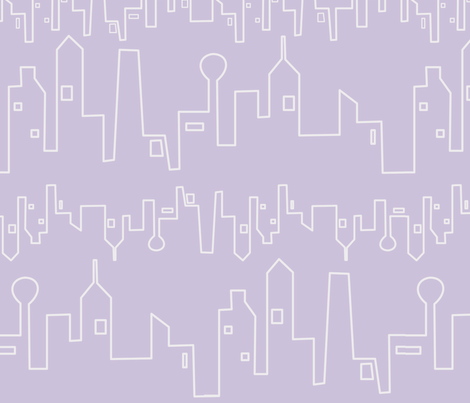 Cityscape in Lavender fabric by lowa84 on Spoonflower - custom fabric