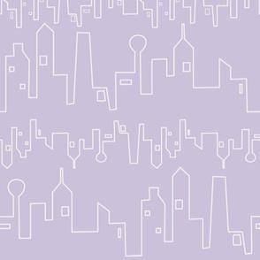Cityscape in Lavender