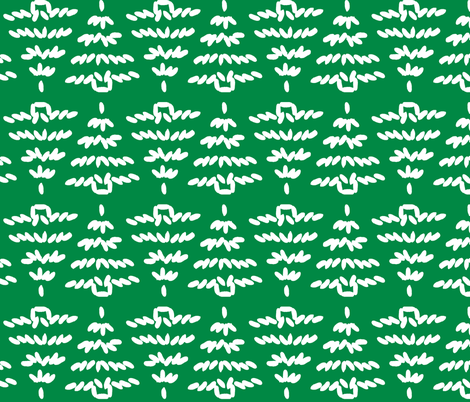 Einstein's tree - snow on green fabric by victorialasher on Spoonflower - custom fabric