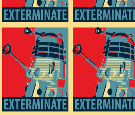 Exterminate! (11x14) fabric by studiofibonacci on Spoonflower - custom fabric
