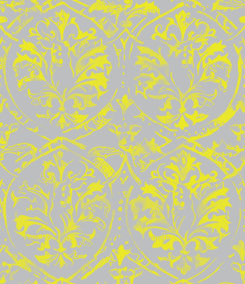 Deer Damask_CITRON