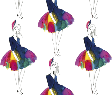 Rainbow Girl fabric by dailycandy on Spoonflower - custom fabric