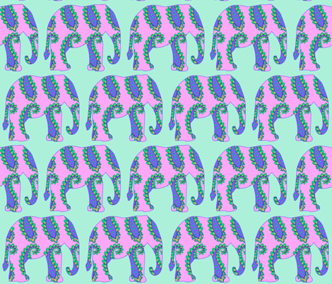Pink Paisley elephant fabric by dogdaze_ on Spoonflower - custom fabric