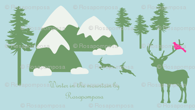 winter in the mountain by Rosapomposa
