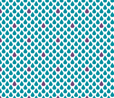 Raindrops fabric by siya on Spoonflower - custom fabric