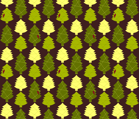 A Stitch of Evergreen fabric by kdl on Spoonflower - custom fabric