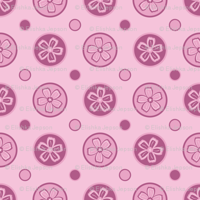 Super Pink Flower Dots!
