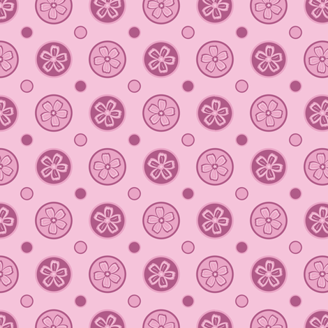 Super Pink Flower Dots! fabric by robyriker on Spoonflower - custom fabric