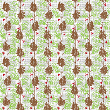 Whispy Pines - Barkcloth fabric by dianne_annelli on Spoonflower - custom fabric