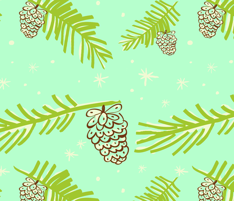 Winter walk fabric by fable_design on Spoonflower - custom fabric