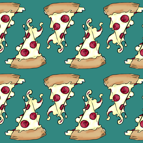Pizza 2 fabric by pond_ripple on Spoonflower - custom fabric