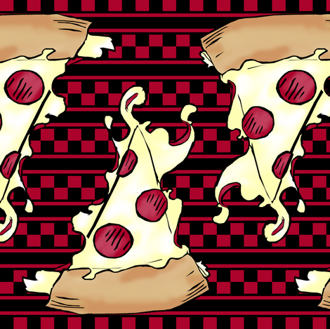Pizza  fabric by pond_ripple on Spoonflower - custom fabric