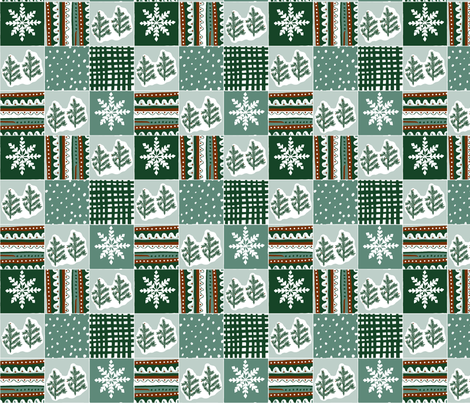 evergreen_quilt fabric by jeannemcgee on Spoonflower - custom fabric