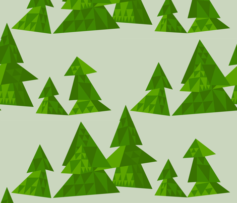 sierpinski's forest fabric by aperiodic on Spoonflower - custom fabric