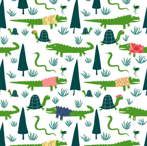 gators on vacation fabric by vo_aka_virginiao on Spoonflower - custom fabric