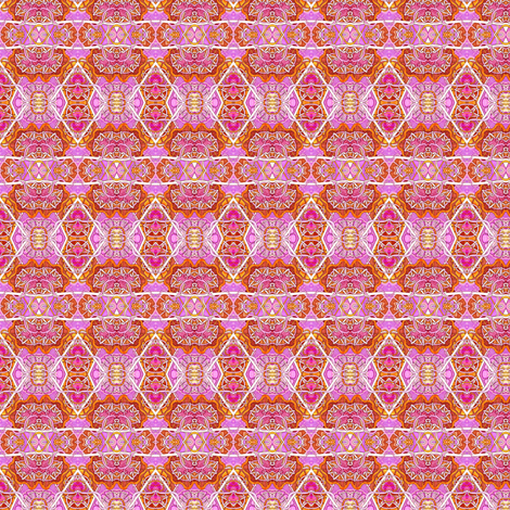 Pink, Orange, and More Pink fabric by edsel2084 on Spoonflower - custom fabric