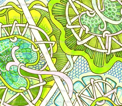 Going Green (zig zag hexagonal vertical stripe)