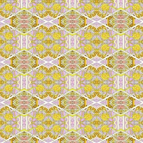 Victorian Lemon Honeycomb fabric by edsel2084 on Spoonflower - custom fabric