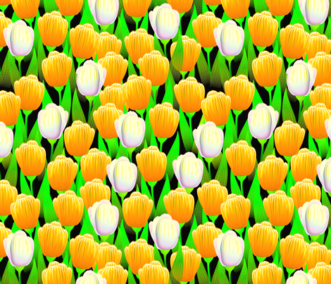 TULIPS BRIGHT GOLD fabric by glimmericks on Spoonflower - custom fabric