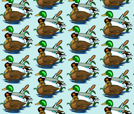 Mallard Ducks fabric by dogdaze_ on Spoonflower - custom fabric