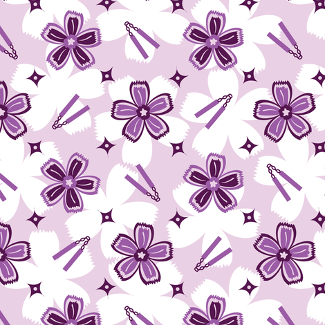 Super Purple Nunchucks! fabric by robyriker on Spoonflower - custom fabric
