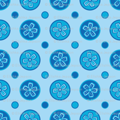 Super Blue Flower Dots!
