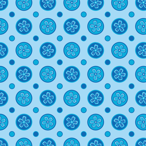 Super Blue Flower Dots! fabric by robyriker on Spoonflower - custom fabric