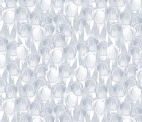delft tulips fabric by glimmericks on Spoonflower - custom fabric