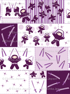 Super Purple Ninja Warriors (Block)