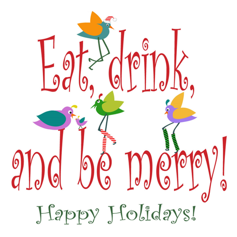 Eat, Drink and be Merry!  fabric by vo_aka_virginiao on Spoonflower - custom fabric