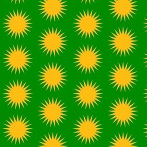 Sun over Kurdistan green