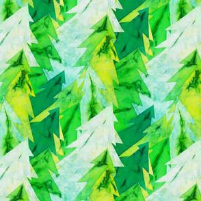 Paper Mache Evergreens