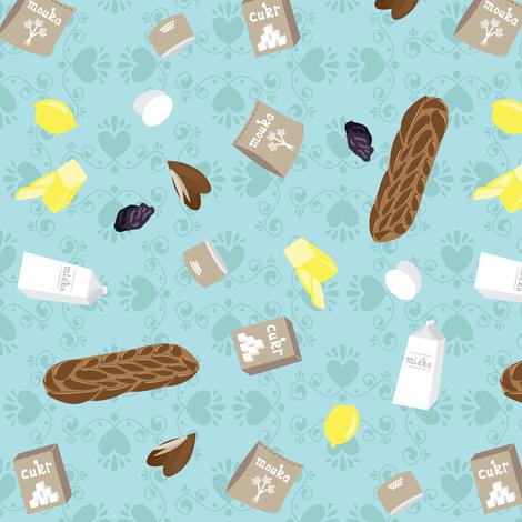 Vánočka Ingredients fabric by robyriker on Spoonflower - custom fabric