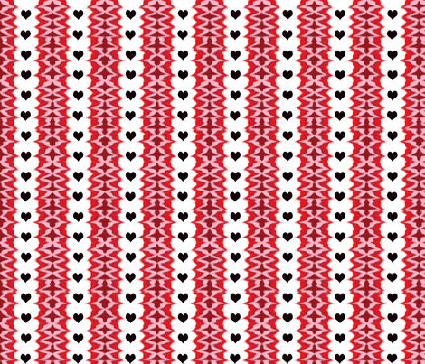 blackheartedstripe2 fabric by mammajamma on Spoonflower - custom fabric