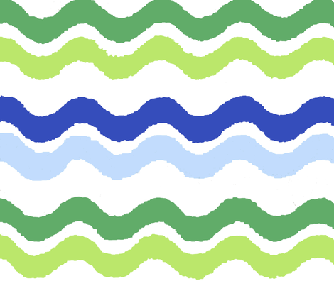 waves fabric by dollyw on Spoonflower - custom fabric