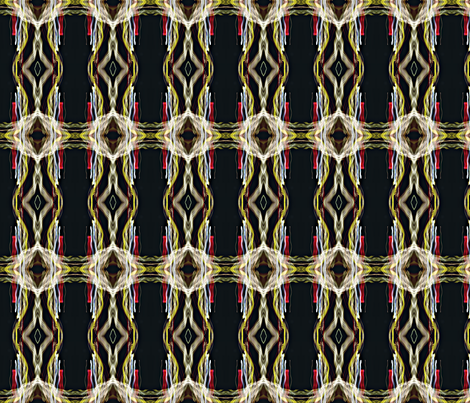 Colored Light Ribbons-ed fabric by glennis on Spoonflower - custom fabric