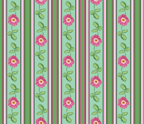 Rose_stripe_alternating_single_repeat fabric by khowardquilts on Spoonflower - custom fabric