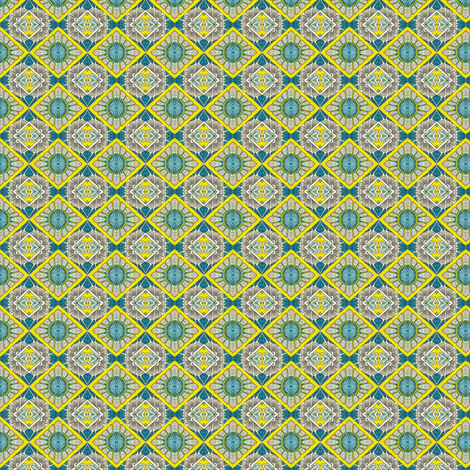 Hearts & Flowers & Sunshine checkerboard fabric by edsel2084 on Spoonflower - custom fabric