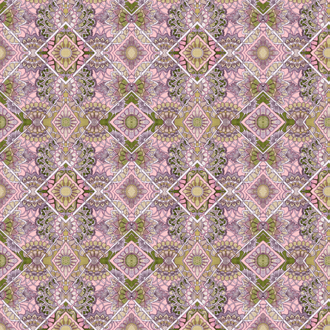 Grandmother's Closet Smelled  Like Wisteria fabric by edsel2084 on Spoonflower - custom fabric