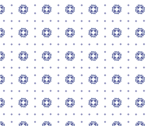 Delft plaid dots fabric by glimmericks on Spoonflower - custom fabric