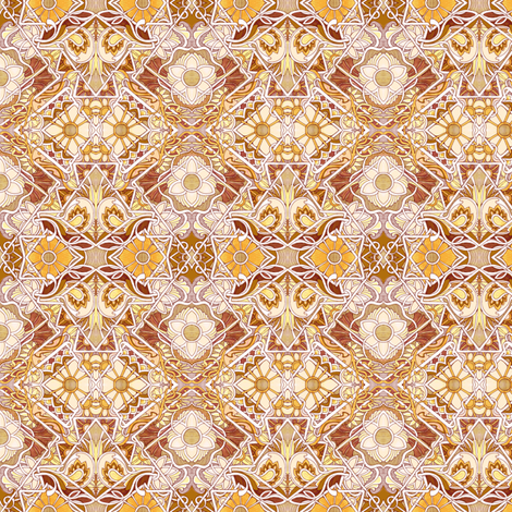 Jazz Age Revival in orange and brown fabric by edsel2084 on Spoonflower - custom fabric