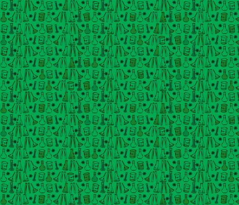 Chemistry Lab Green fabric by nocodazole on Spoonflower - custom fabric