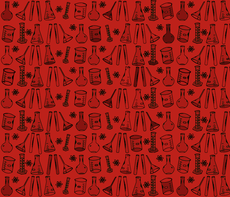 Chemistry Lab Red fabric by nocodazole on Spoonflower - custom fabric